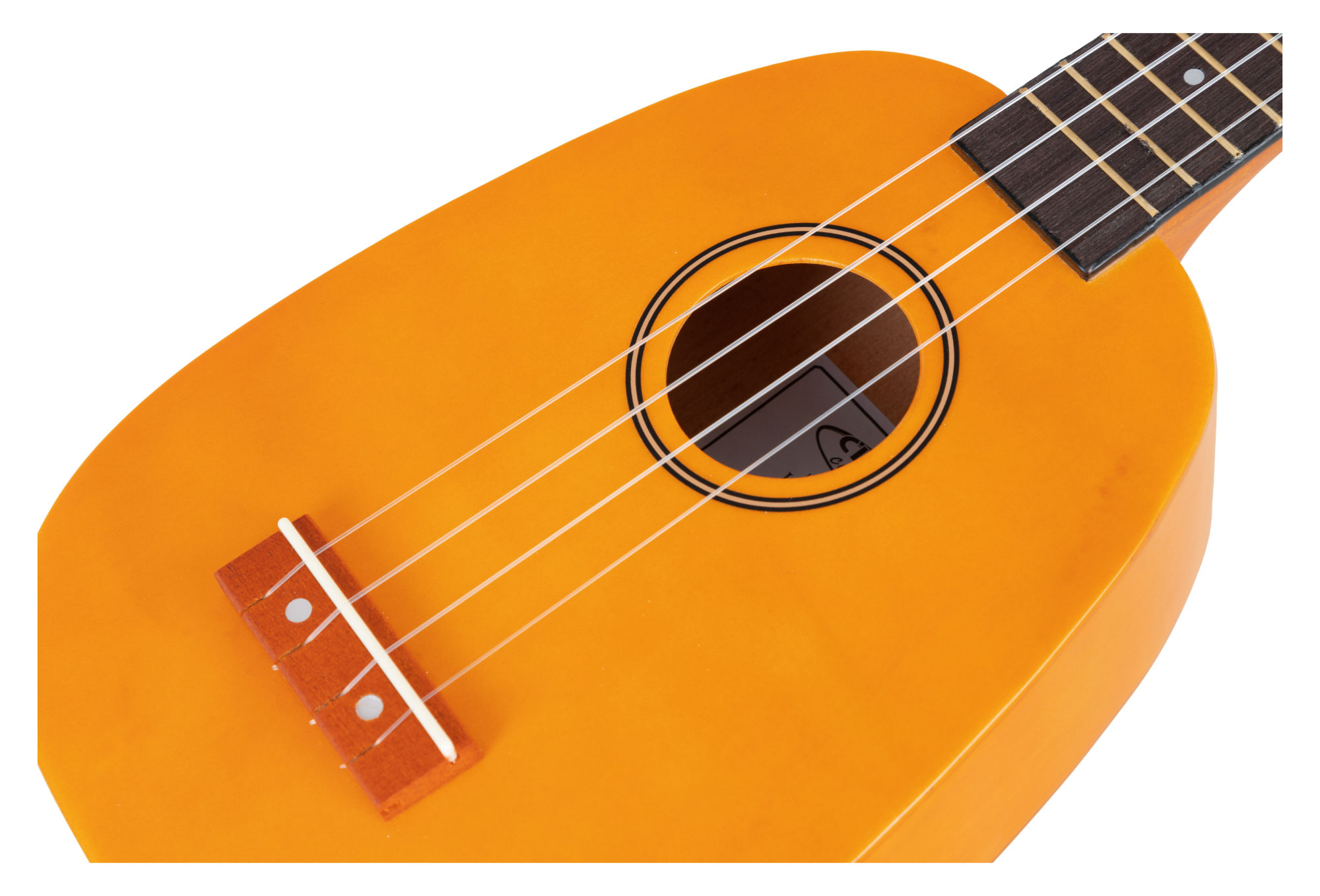 Musik & Instrumente CLASSIC CANTABILE US-100P NAT SOPRAN UKULELE PINEAPPLE NYLON SAITEN GELB