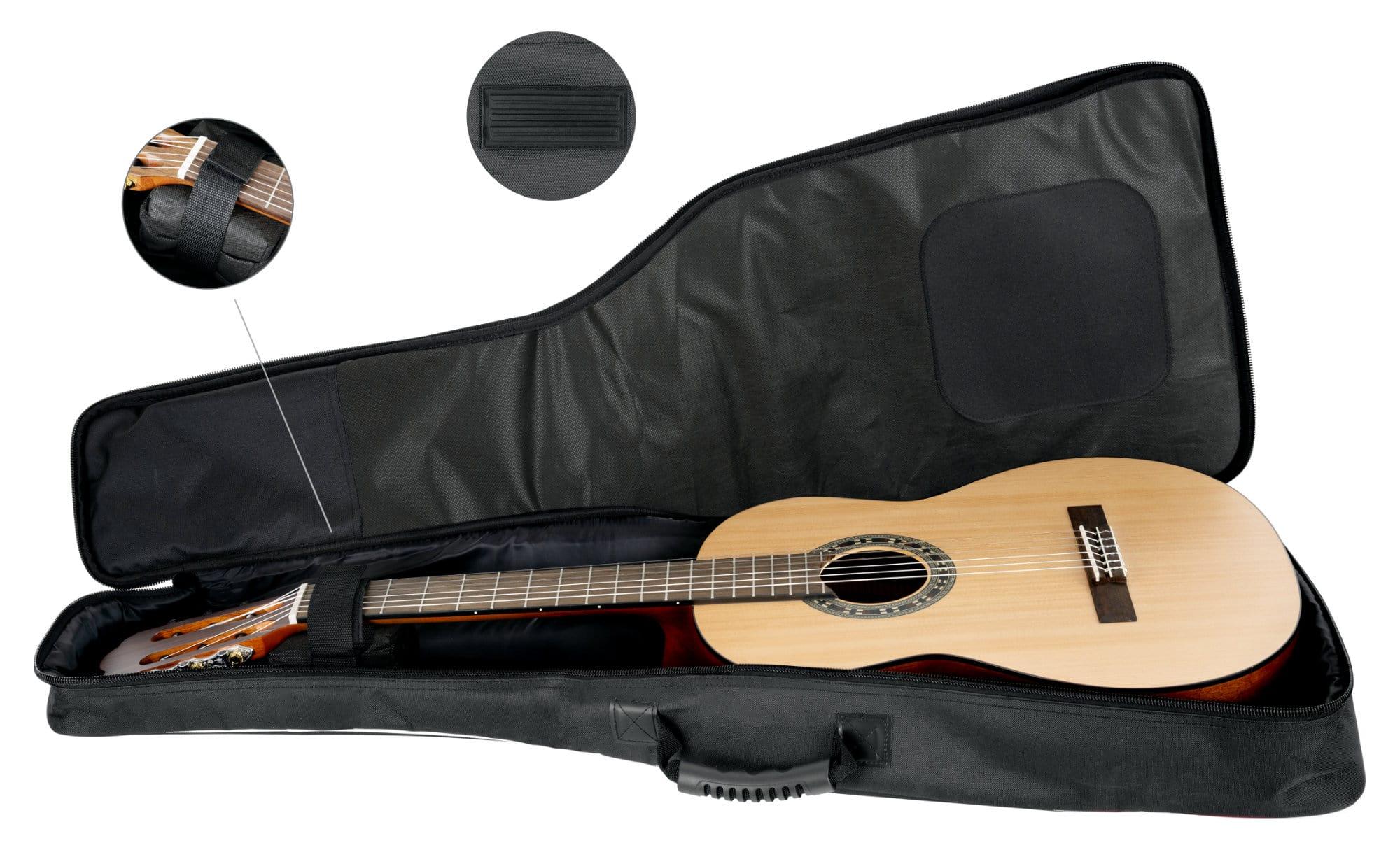 Größe in rot Komfortable und sichere Tasche für Konzertgitarren in 3//4 und 7//8