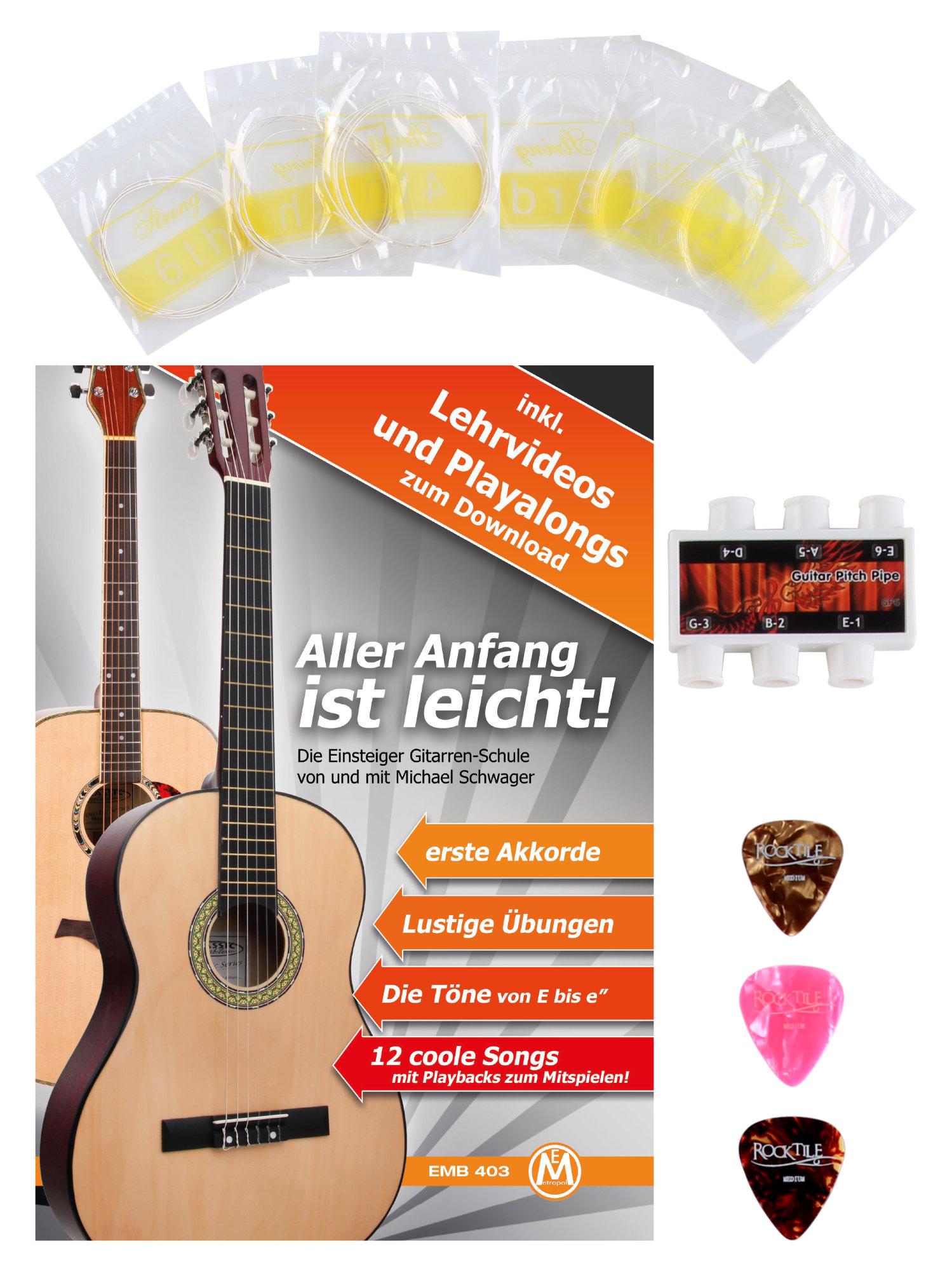 6er Set Gitarrensaiten Gitarren Saiten Strings Konzert Gitarre Klar