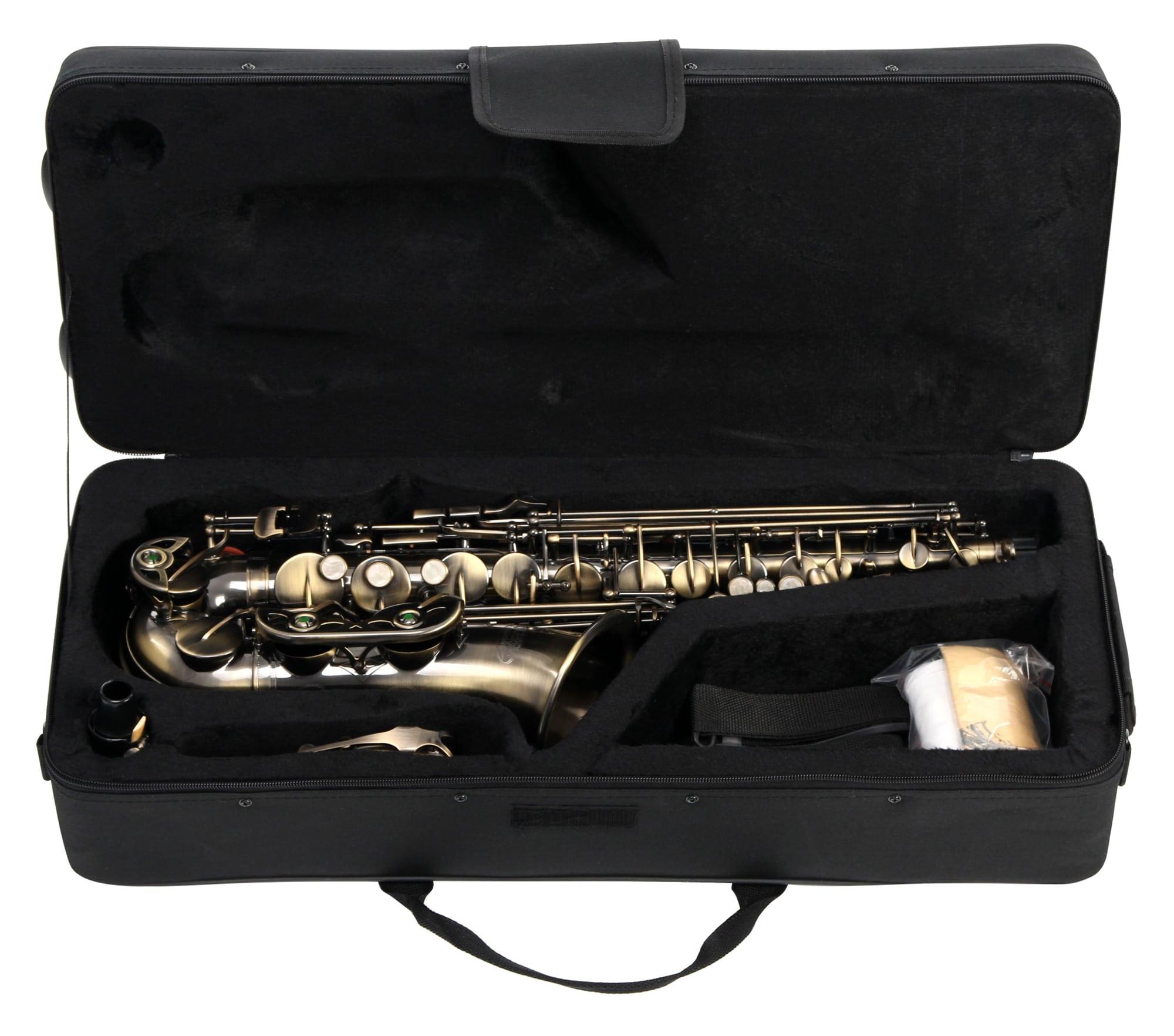 Sopran Saxophon Sax Saxofon Leicht Case Koffer Mundstück Blättchen klar lackiert