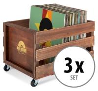 "Stagecaptain SPK-100 BN Caja para discos ""Emil"" Marrón 3x Set"