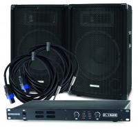 McGrey Set de Sonorisation DJ-01, 2x TP-10 Box, 1x P152-E Amplificateur, 2x BOXJ1-5 câbles, 200W RMS