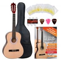 Classic Cantabile guitarra de concierto 3/4 set para principiantes incl. accesorios de 4 piezas