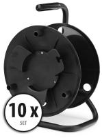 10-Piece Set Pronomic KT-100 cable reel (empty)