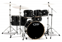 DW PDP Concept Maple 7 Rock Pearlescent Black