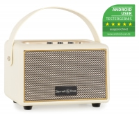 Bennett & Ross BB-820CW Blackmore Altavoz Junior con batería y Bluetooth color Blanco Crema