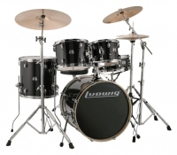 Ludwig Evolution Fusion 1 Shellset Black Sparkle