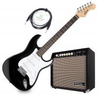 Shaman Element Series STX-100B E-Gitarre schwarz Verstärker Set