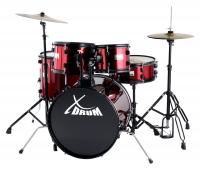 """Rookie XDrum 20 """"batteria da studio completa Rosso Rubino"""