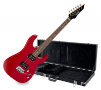 Shaman Element Series HX-100 RD E-Gitarre Satin Red Set inkl. Koffer