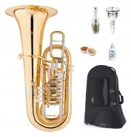 Lechgold FT-20/6GL F-Tuba Goldmessing lackiert Deluxe Set