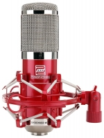 Pronomic CM-100R Large Diaphragm Studio Microphone SET incl. Shockmount and Windscreen, Red