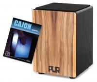 PUR Cajon PC124 Vision QS Black Satin Nuss (Medium) Set inkl. Schule