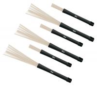 3 Paar SET XDrum NJB3 Jazz Brushes Nylon Brushes