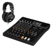 IMG Stageline MXR-60 USB Mixer mit Bluetooth Set
