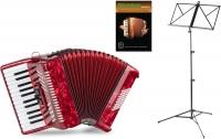 """Classic Cantabile 48 Acordeón Bajo """"Secondo V"""" set rojo"""