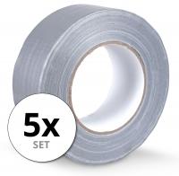 Stagecaptain DT-4850G-ECO ruban en tissu ruban adhésif Gaffa tape 50 m set de 5 gris