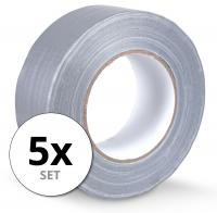 Stagecaptain DT-4850G-ECO weefselband kleefband Gaffa tape 50 m 5-pak grijs