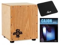XDrum Junior Cajon Peruana Ash Set inkl. Sitzpad und Schule