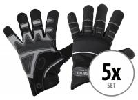 Juego de 5 pares Stagecaptain RGL-5F Rigger guantes de trabajo talla L