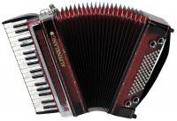 Alpenklang Pro accordion III 72 MH shadow red