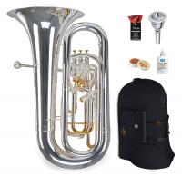 Lechgold Supreme BT-490S Bb-Tuba versilbert Deluxe Set