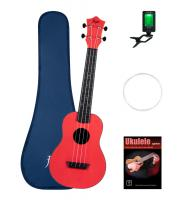 Flight TUC35 Red Travel Konzert Ukulele Set