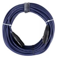 Pronomic Stage DMX3-15 DMX câble 15m bleu avec contacts dorés