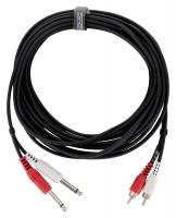 Pronomic J4RC-6 câble audio stéréo 6,3 mm jack/cinch 6 m