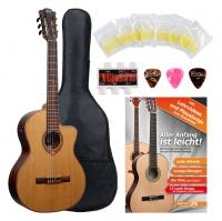 LAG OC118CE Occitania 118 4/4 Konzertgitarre Starter Set