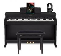 Casio Celviano AP-470 Digitalpiano, Schwarz Set inkl. Pianobank, Kopfhörer & Klavierschule