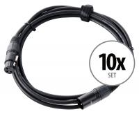 Pronomic Stage XFXM-2.5 Mikrofonkabel XLR 2,5 m Schwarz 10er Set