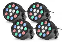 Showlite SPS-121 LED Smart Party Spot 12x 1W RGBW 4er Set