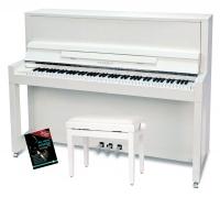 Feurich Mod. 115 Premiere Piano Set Weiß - Chrom