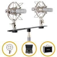 Pronomic Stereo Zubehörset für SCM-1 und andere Kleinmembran Mikrofone im Koffer