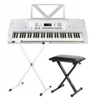 FunKey 61 Keyboard SET white incl. keyboard stand and bench