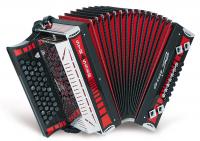 Strasser 4/III De luxe SE Harmonika A-D-G-C, mit X-Bass, Rot