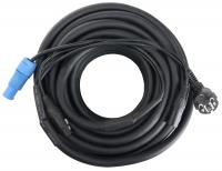 Pronomic Stage EUPPD-15 Hybridkabel Schuko/Powercon kompatibel + DMX 3-polig, 15m