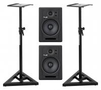 Fluid Audio F5 Aktiv-Studiomonitor Stativ Set