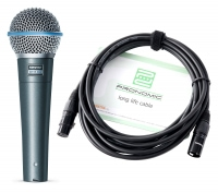 Shure Beta 58A Mikrofon Set+ Kabel