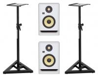 KRK ROKIT RP5 G4 White Noise Stativ Set