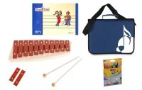 Sonor Früherziehungsset mit Tina und Tobi-Heft, NG 10 Glockenspiel, blauer Notentasche und Stifte
