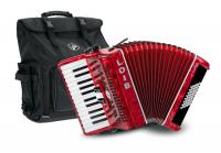 Loib Starter II 48 RD Beginners Accordion Red