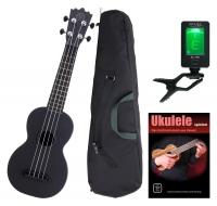 Classic Cantabile BeachBuddy ukulele Blackbird, set incl. sintonizador