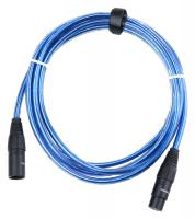 Pronomic Stage XFXM-Blue-2.5 Mikrofonkabel XLR 2,5 m Metallic Blue