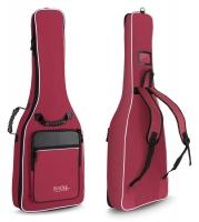 Rocktile Custodia semirigida per chitarra con tracolle a zaino ? colore rosso