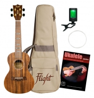 Flight DUC440 Acacia Konzert Ukulele Set