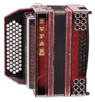 Zupan Juwel VD Harmonika D-G-C-F-B, Shadow Red