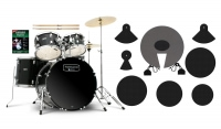 Mapex Tornado Stage Drumset Black mit Becken Beginner Set