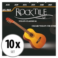 Rocktile Cordes de Guitare Classique Super Light Paquet de 10
